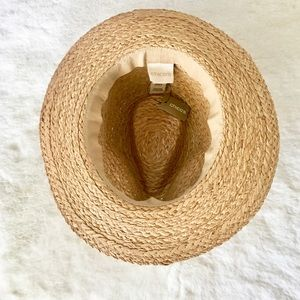 Chico's Accessories - NWT Chico's Neutral Beaded Fedora Straw Hat